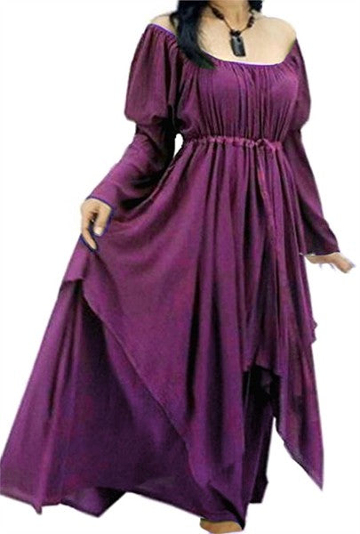 Lagenlook Long Sleeve Peasant Renaissance Dress