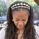 Cowrie Shell and Crystal Headband Handmade