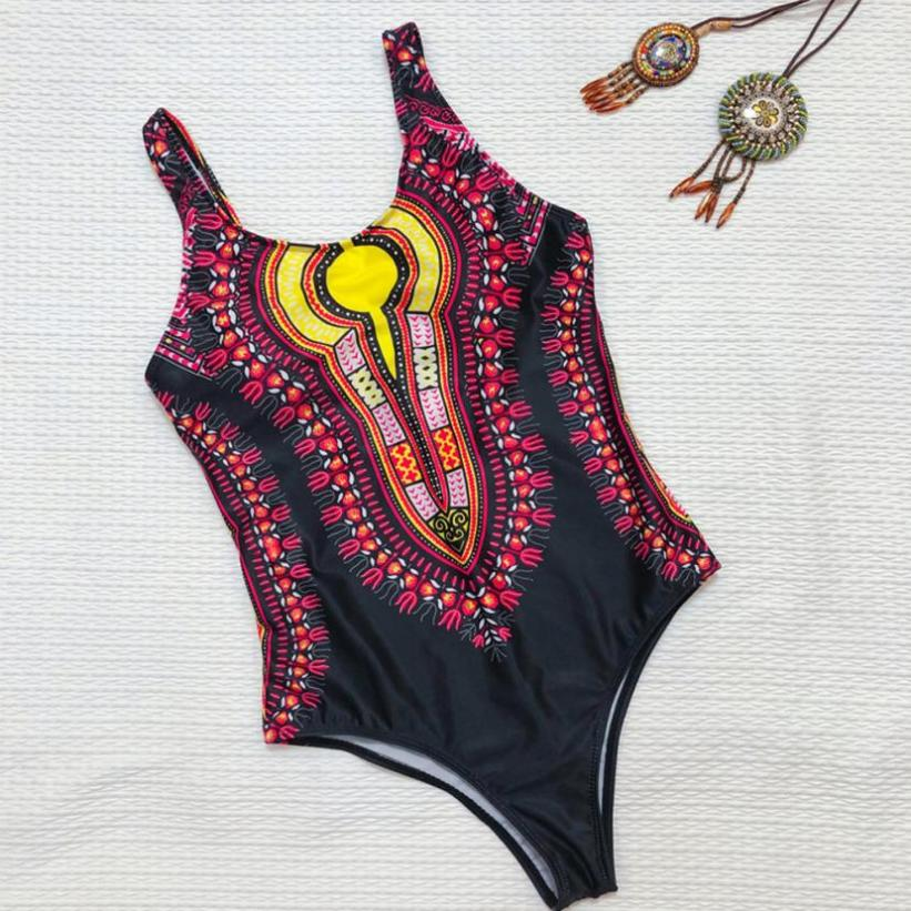 One piece Swimsuit for Women Curve Appeal Dashiki African Print plus size Bikini