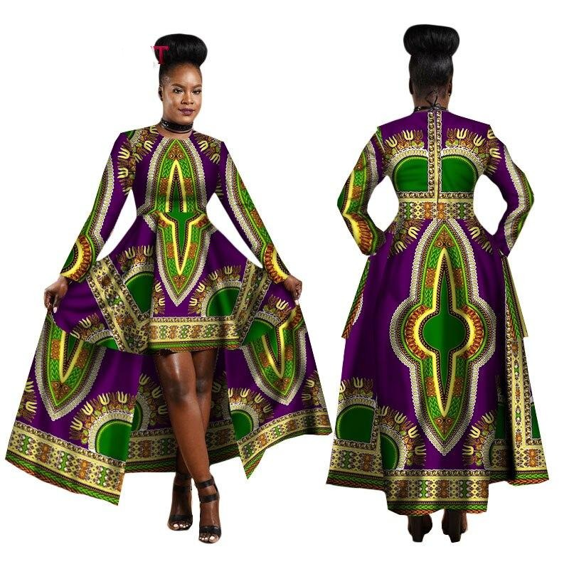 High Low African Print Kinte Dress tailor made