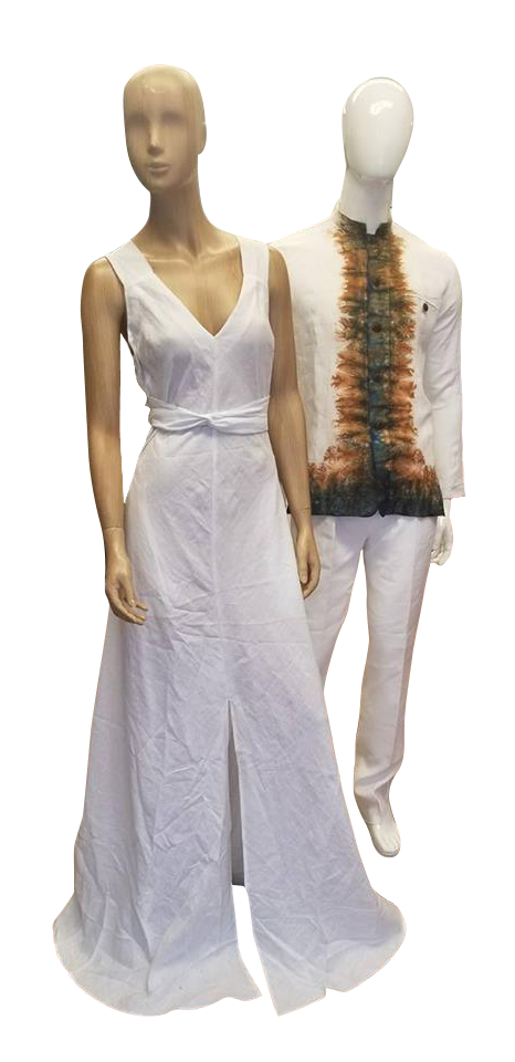 Long White Linen Dress perfectly cut to flatter the female body