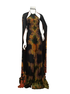 Long chic Silk rayon dress for super special occasions