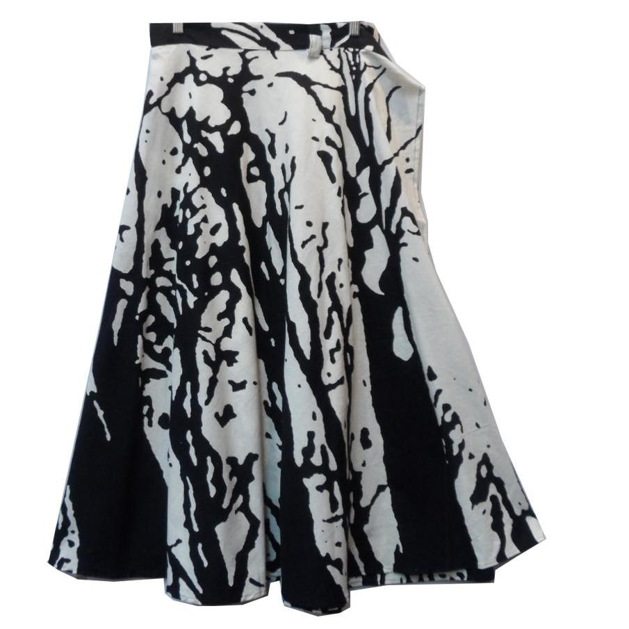 Long Black and White Wrap Skirt Super Versatile for every occasion