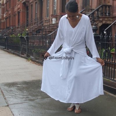 Moroccan Magic Dress White with sleeves