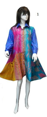 Colorful one of a kind Saree Blouse/Dress