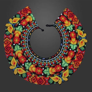 Beads Circled to Perfection Yellow Butterflies - One of a Kind Native American Handmade Necklace