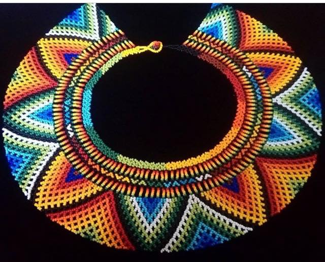 Beads Circled to Perfection Sunflower - One of a Kind Native American Handmade Necklace