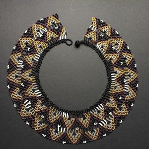 Beads Circled to Perfection Golden Homes - One of a Kind Native American Handmade Necklace