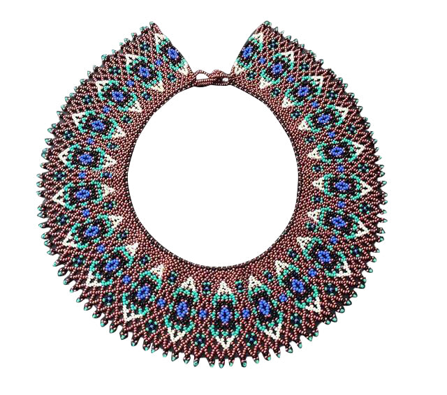 Beaded Necklace Ends Dotted - Native American
