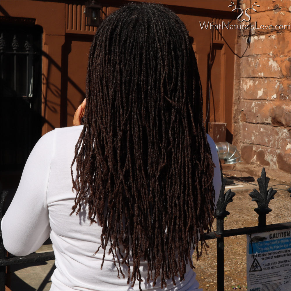 Locs after using the Loc Maintenance Spray