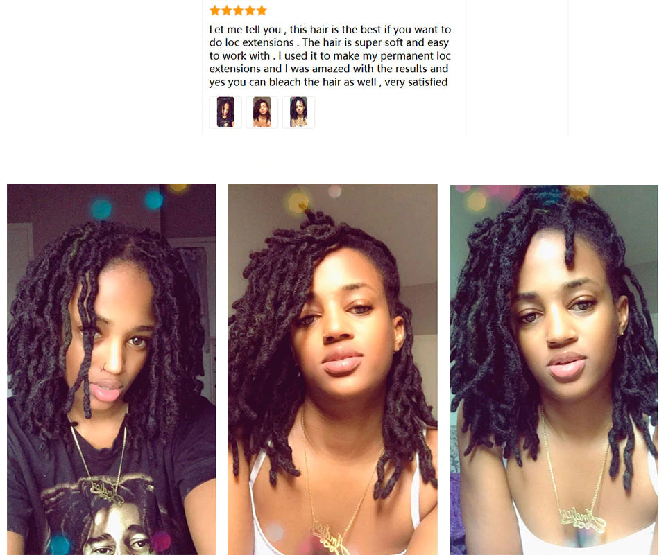 Afro Kinky Bulk Human Hair for Locs & Braids - Remy Peruvian Color #99J
