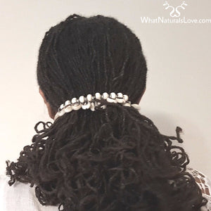 Cowrie Shell Hair Tie for Locs, Braids, Afro Puffs