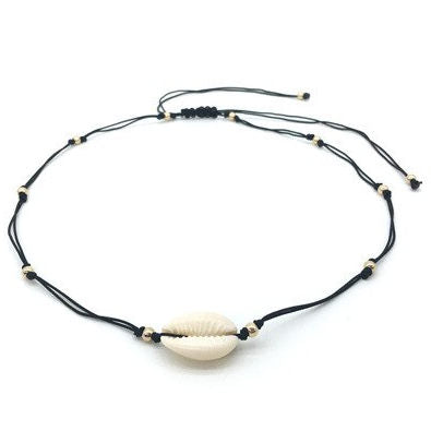 Cowrie Shell Necklace & Hair Tie