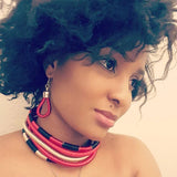 African Tribal Multi Layer Choker Necklace