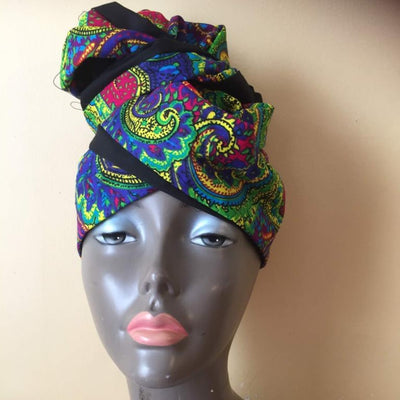 The Multi-Wear Magic Head Wrap Colorful Batik