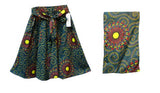 Handmade Maxi African Print Cotton Skirt with a wrap