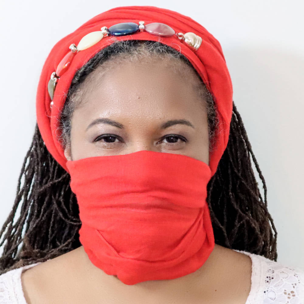 Multi wear Headwrap Scarf Mask