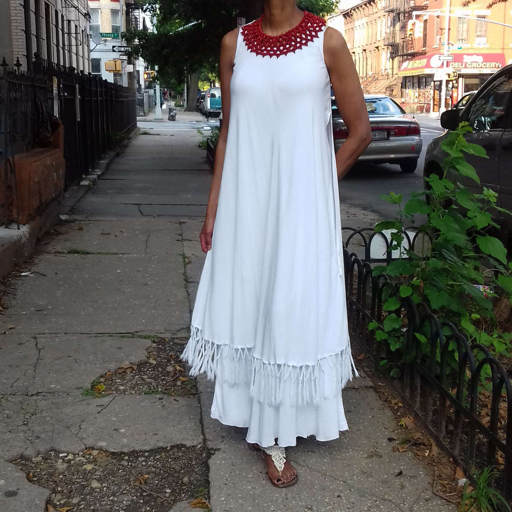 Moroccan Magic Dress with Fringe