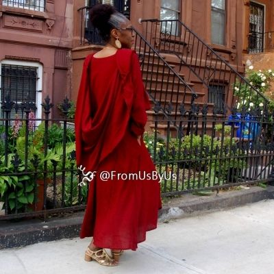 Moroccan Magic Dress Red with sleeves