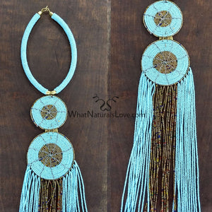 Two Circles Handmade African Necklace Handmade from the Masai