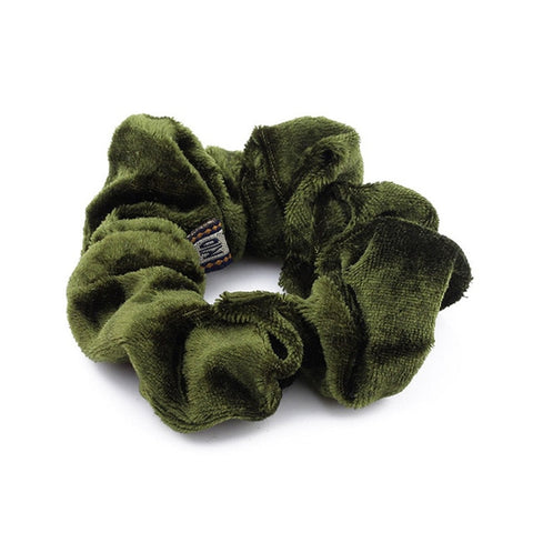 Large Velvet Scrunchie for Braids, Afro Puffs and Locs