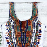 Dashiki bathing suit for women with curves