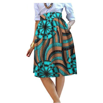 Flawlessly tailor made African print midi skirt