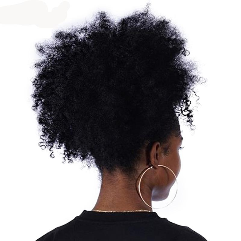 Afro Kinky Curly 100% Human Hair Ponytail Clip In