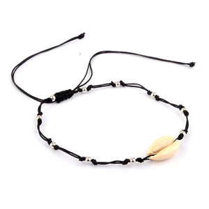 Multi functional Unisex Cowrie Shell Necklace Hair Tie Bracelet Anklet