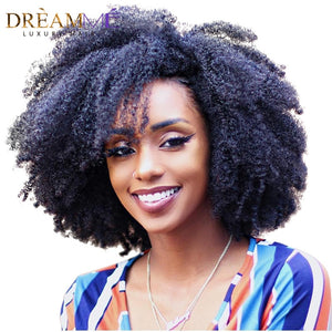 Afro Kinky Curly Human Hair Clip in Extensions