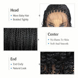 Pretty Curled Braids Lace Front Wig