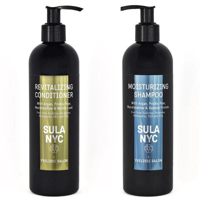 Sula NYC Shampoo and Conditioner to Moisturize and Revitalize Afro Hair, 4C, 3A, Kinky and Curly Hair
