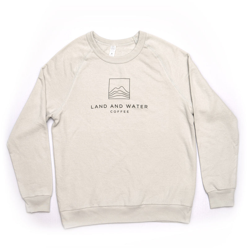 Champ Washed Terry Crew Sweater - Classic/Relaxed Fit