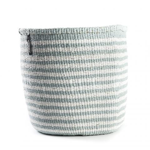 Light Blue and White Thin Stripe Basket | Garian