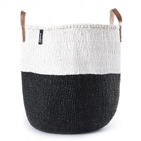 Black and White 50/50 Basket with Handles | Garian