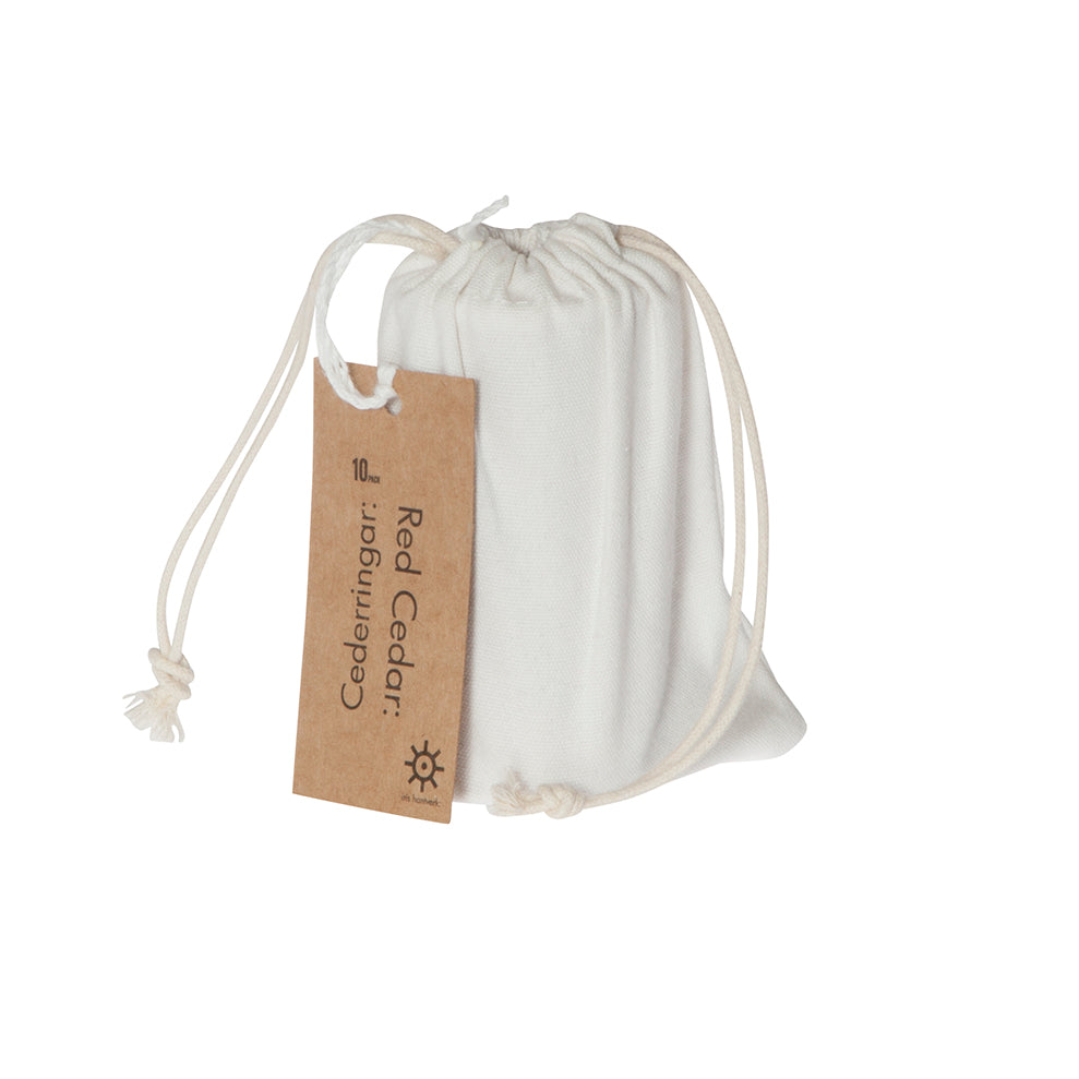 Iris Hantverk Ceder discs in Cotton Bag | Garian