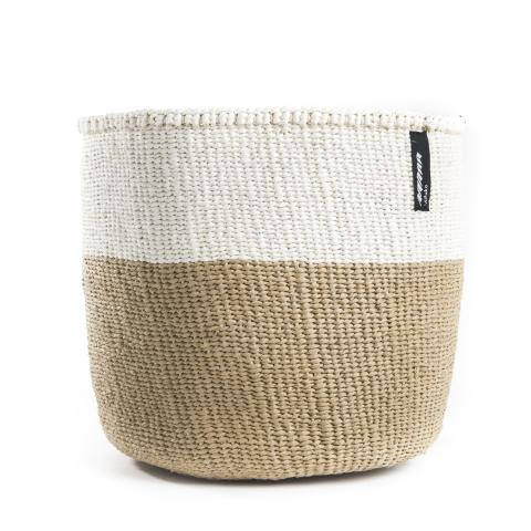 Brown and White 50/50 Basket | Garian