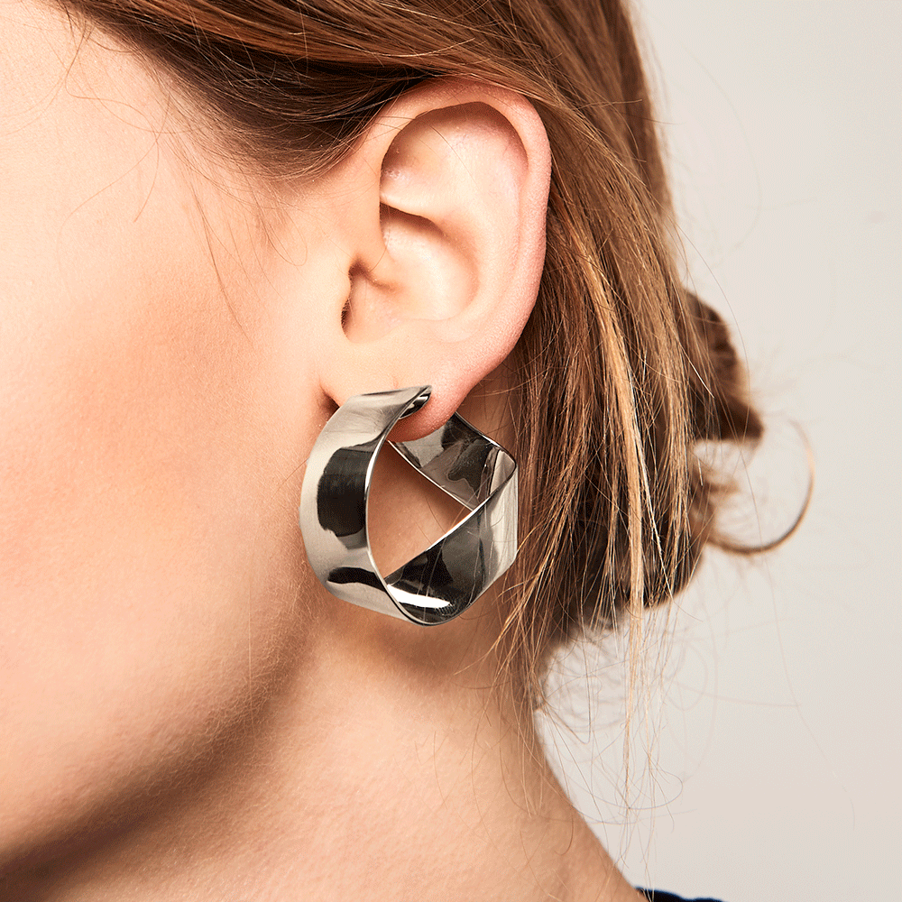 Gravity Silver Earrings | Garian