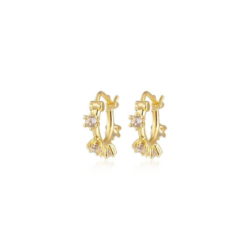 Adele Mini Spike Hoop Earrings | Garian