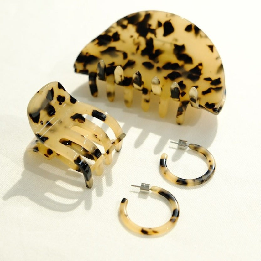 Mini Hair Clip in Blonde Tortoise | Garian
