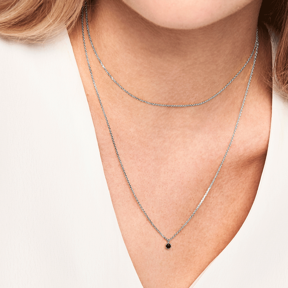 Black Holiday Silver Necklace | Garian