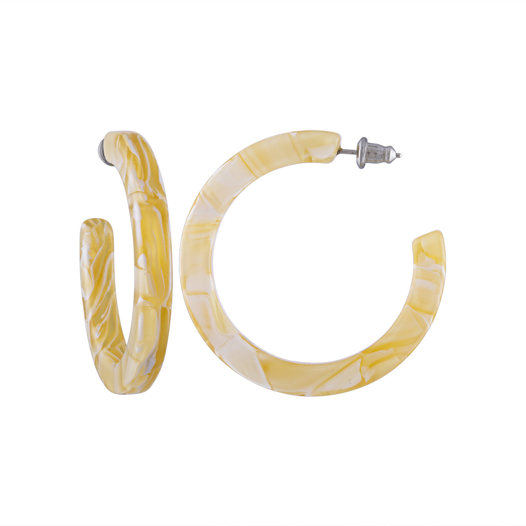 Midi Hoops in Jaune Yellow | Garian