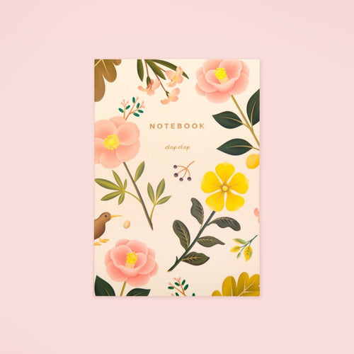 Garden Bloom Notebook - Cream - GARIAN Hong Kong