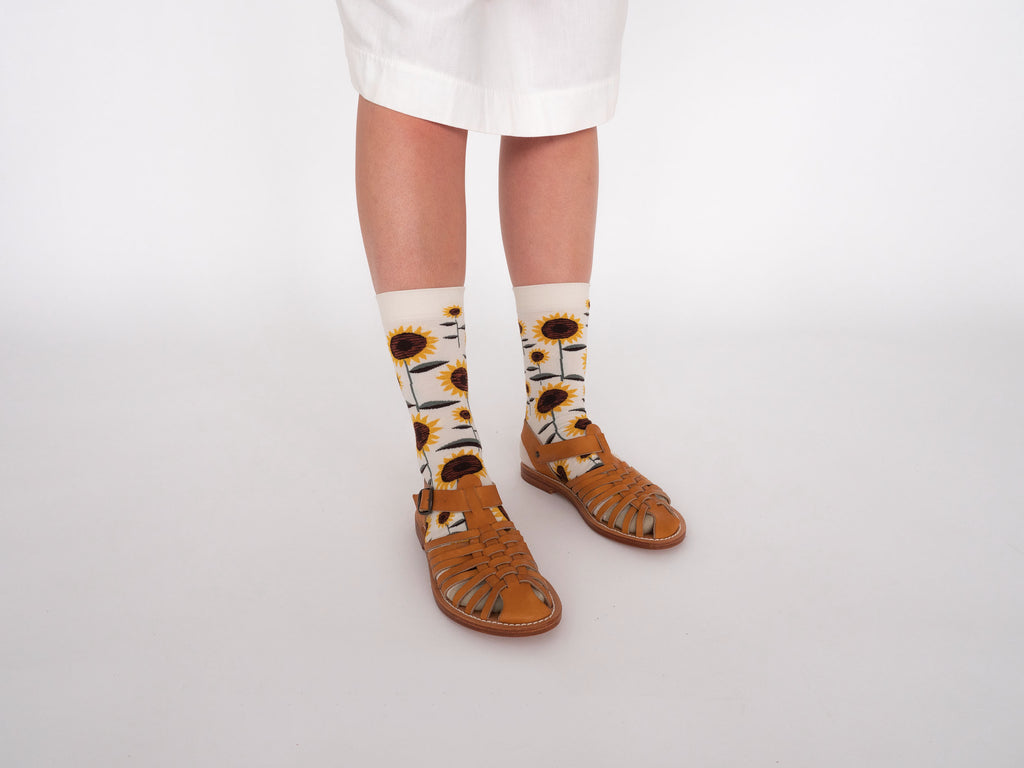 Bonne Maison Socks Natural Sunflower | Garian