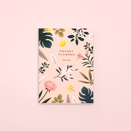 Botanical Pocket Planner - Pink - GARIAN Hong Kong