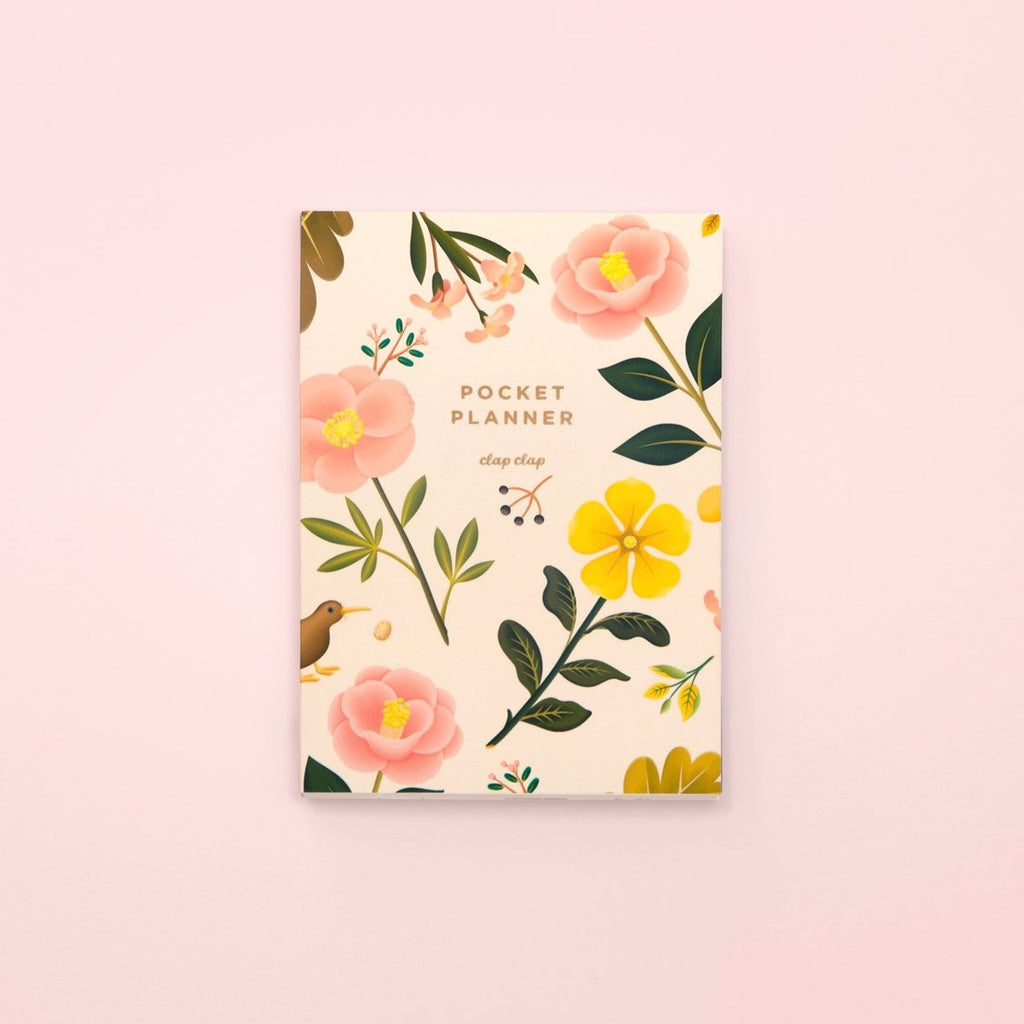 Botanical Pocket Planner - Cream | Garian
