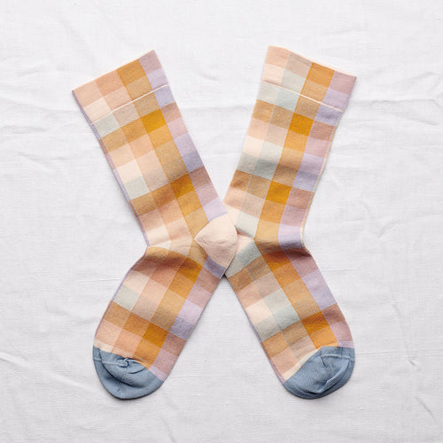 Bonne Maison Socks Honey Checks - GARIAN Hong Kong