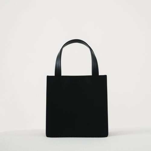 Small Leather Retail Tote - Black - GARIAN Hong Kong