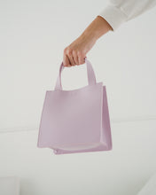 Small Leather Retail Tote - Pale Orchid - GARIAN Hong Kong