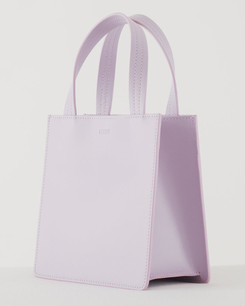 Small Leather Retail Tote - Pale Orchid | Garian